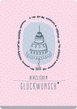 Postkarte – TORTE, Glückwunsch (KL 15162)