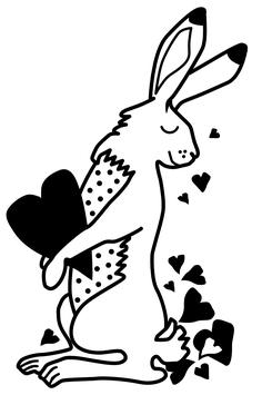 STEMPEL Hase mit Herz (L)