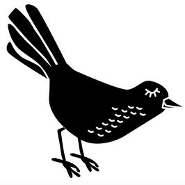 STEMPEL Vogel, Auge zu, links (M)