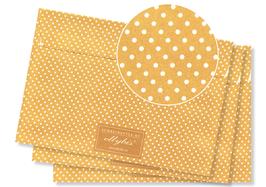 GOLD (Ocker) –Punkte beige