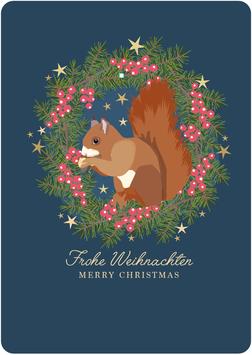 Eichhörnchen, Frohe Weihnachten (KL 19291)