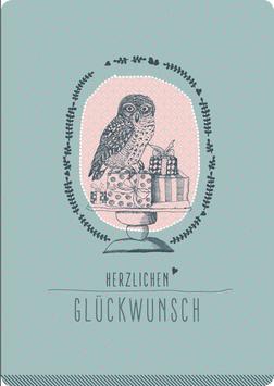 Postkarte – EULE, Herzlichen Glückwunsch (KL 15160)