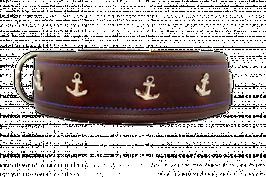Anker Lederhalsband 4,5 cm breit