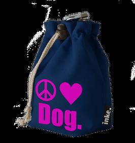 Festivalbeutel Peace.Love.Dog. (Zeichen)