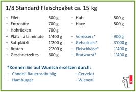 1/8 Standard Fleischpaket
