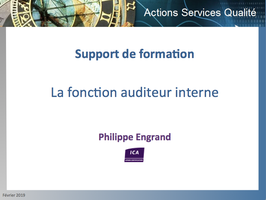 Support de formation La Fonction Auditeur Interne