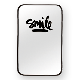 "Spiegelaufkleber ""SMILE"""