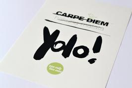 """Kunstdruck """"YOLO"""""""