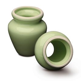 Porzellan Teebesenhalter - grün