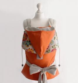 JoNo Mei Tai Orange Retroblumen /Grösse Standard