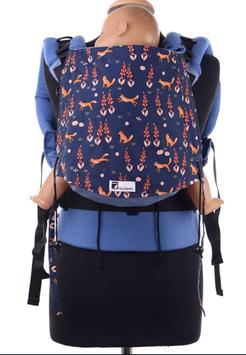 Huckepack Full Buckle Füchse Blau  / Grösse Standard