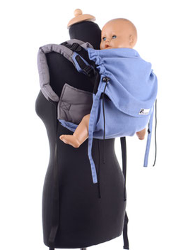 Huckepack Onbuhimo hellblau/grau (Standarddesign)