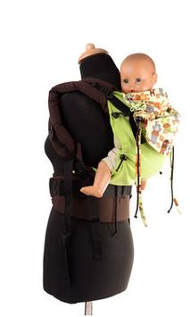 Huckepack Full Buckle grüne Elche Grösse Babysize