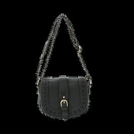 schoudertas hannah zwart kunstleer, 23 x 22 cm gemeten zonder band, prijs per stuk.