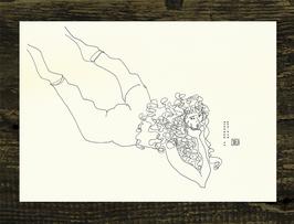 Postkarte Aktzeichnung 'Hommage an Schiele No.1'