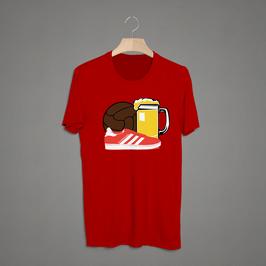 Leverkusen Ball Bier Schuhe Shirt