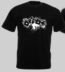 1312 Würfel Shirt Schwarz