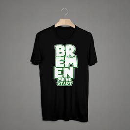 Bremen Graffiti Schrift untereinander Shirt