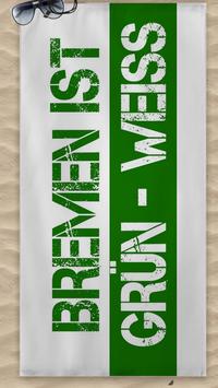 Bremen ist Grün Weiss Strandtuch