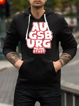 Augsburg Graffiti Meine Stadt untereinander Hoodie