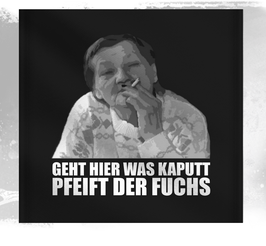Ritter Geht hier was kaputt Wandfahne