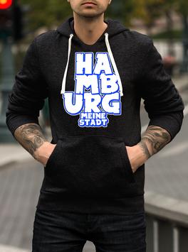 Hamburg Graffiti Meine Stadt untereinander Hoodie