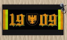 Dortmund 1909 Zahlen Schlicht Wappen Strandtuch