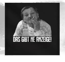 Ritter Das gibt ne Anzeige Wandfahne