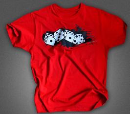 Würfel Shirt Rot fetter Aufdruck