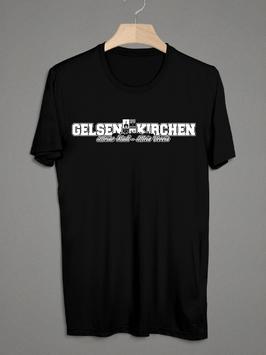 Gelsenkirchen Meine Stadt Mein Verein Shirt Schwarz