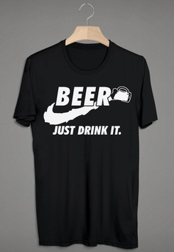 Beer Just drink it Shirt Schwarz