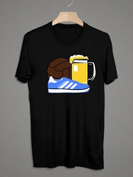 Gelsenkirchen Bier Ball Schuhe Shirt Schwarz