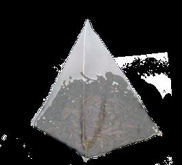 Te Rojo Pu Erh con vainas de Vainilla cajita de 25 piramides.