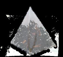Te Negro con canela en rama y vainas de Vainilla cajita de 25 piramides.