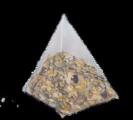 Flor de Manzanilla, Escaramujo y Lemon Grass, cajita de 25 piramides.