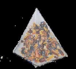Piña Colada y pétalos de Girasol, cajita de 25 piramides.