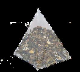 Te Blanco, Naranja y Flores de Jazmín, cajita de 25 piramides.