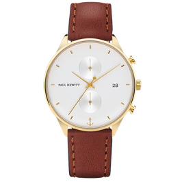 Paul Hewitt Chrono Line White Sand IP Gold