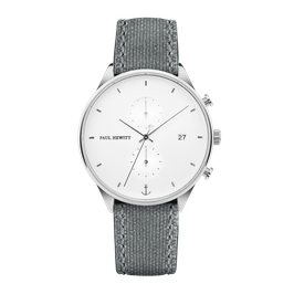 Paul Hewitt Chrono White Sand Silber Canvas