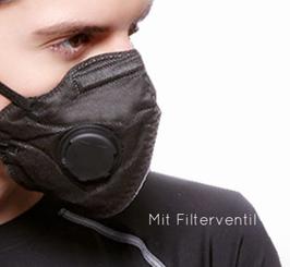 Atemschutz mit Aktivkohlefilter in 3 vers. Farben erhältlich