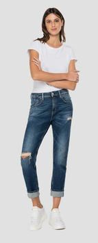 REPLAY - JEANS BOY FIT MARTY ROSE LABEL