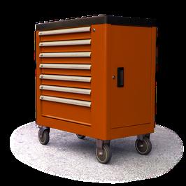 Werkzeugwagen, 7 Schubladen, abschließbar inkl.  252 Stk. Werkzeug LN-12399B