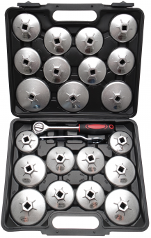 "Ölfilterschlüssel-Satz Aluminium-Druckguss Antrieb Innenvierkant 12,5 mm (1/2"") 23-tlg. 1035"