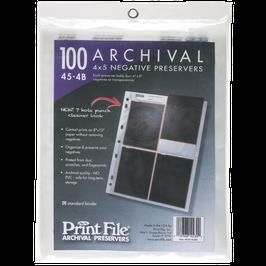 Printfile Negativhüllen  4x5 inch Planfilm