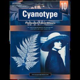 Cyanotypie Stoffbögen  (21,6 x 28cm)