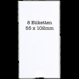 Negativordner Etikettenschilder  (55 x 102mm)
