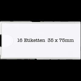 Archivbox Etikettenschilder (35 x 75mm)