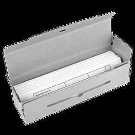 Pergamin ZickZack Streifentaschen + Archivbox