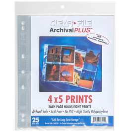 Clearfile PP Negativhüllen 4x5inch Planfilm (25 Stück)