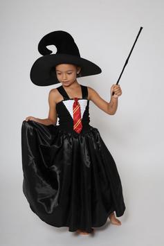 Robe de sorcière noire - Costume d'Halloween